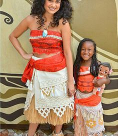 Moana with little Moana