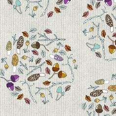 Forest Floor  fabric by nouveau_bohemian on Spoonflower - custom fabric