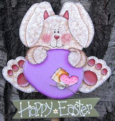 He encontrado este interesante anuncio de Etsy en https://www.etsy.com/mx/listing/122606926/easter-bunny-and-egg-yard-stake-wood