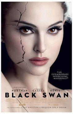 Black Swan Cracked Actress Natalie Portman Movie Poster 11x17