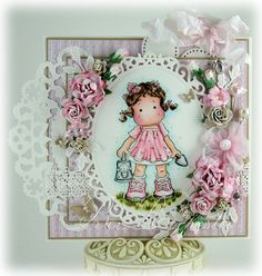 Tilda with water can from Magnolia stamps