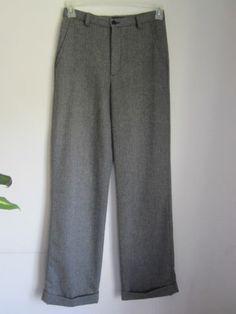 Gap Grey/Black Slacks Fully Lined Wool/Polyester Size 8 Super Nice!