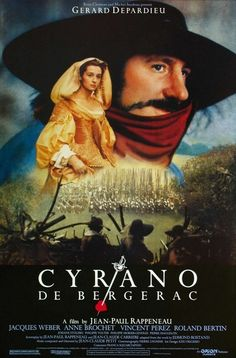 [link] Cyrano de Bergerac is a 1990 French comedy drama film directed by Jean-Paul Rappeneau and based on the 1897 play of the same name by Edmond Rostand, adapted by Jean-Claude Carrière and Rappeneau. It stars Gérard Depardieu, Anne Brochet and Vincent Pérez. The film was a co-production between companies in France and Hungary  https://en.wikipedia.org/wiki/Cyrano_de_Bergerac_(1990_film)