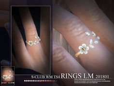 RINGS, 5 swatches, hope you like, thank you. Found in TSR Category 'Sims 4 Female Rings'