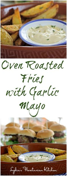 Blog post at Lydia's Flexitarian Kitchen : Try this easy garlic mayo on fries, sandwiches, grilled meats and seafood...wherever you'd…