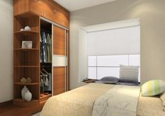 furniture-classy-wooden-reach-in-bedroom-wardrobe-design-with-two-sliding-doors-and-floor-up-to-ceiling-high-also-shelving-modern-and-fancy-bedroom-wardrobes-and-closets