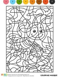 Coloriage Magique CM1, une abeille butineuse Crafts For Girls, Arts And Crafts, Science Table, Pixel Art, Number Games, Bee Happy, Paint By Number, Colouring Pages, Numbers