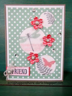 Thinking of You, Hello Friend, Birthday card stamped with the Awesomely Artistic stamp set from Stampin' UP!