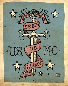 USMC Tattoo Art Limited Edition Print UNFRAMED 15/50 by Nito71, $20.00