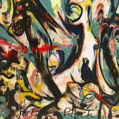 """Mural"" by Jackson Pollock @museopicassomalaga"
