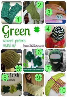 Green Crochet Pattern Round Up from Jessie At Home