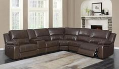 650180 6 pc Channing brown leatherette sectional sofa with power motion recliners on the ends Furniture, Reclining Sectional, Sofa, Furniture Protection Plans, Support Pillows, Recliner, Sectional, Coaster Fine Furniture, Furniture Design