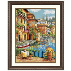 Café on the Canal - Cross Stitch, Needlepoint, Embroidery Kits – Tools and Supplies