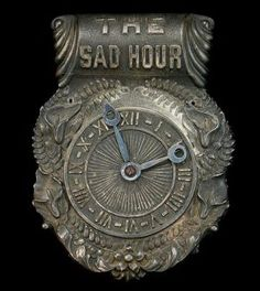 The Sad Hour: Rare 1900s Coffin Plaque Used to Indicate the Time of Death