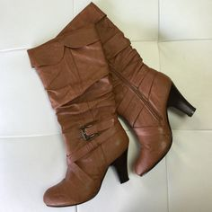 RUE21 Boots Perfect for jeans to leggings, even with a cute dress or skirt.  Size on shoe says (L) but fits Size 8 so that is why it's listed as size 8.  Ask any questions before you purchase but these are so ready for a new home.  Shoes Heeled Boots