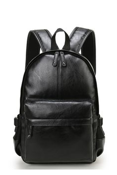 Cheap bags for college, Buy Quality backpack bag directly from China backpack bags brands Suppliers: VICUNA POLO Famous Brand Preppy Style Leather School Backpack Bag For College Simple Design Men Casual Daypacks mochila male New Leather School Backpack, Faux Leather Backpack, Black Backpack, Backpack Bags, Fashion Backpack, Travel Backpack, Backpack Online, Leather Book Bag, Leather Books