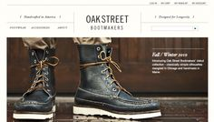 Oak Street Bootmakers designs and produces handcrafted shoes and boots in the USA[gallery] Great Website Design, Nice Website, Website Designs, Website Layout, Web Design Awards, Website Design Inspiration, Blog Design, Ui Design, Graphic Design