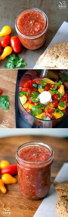 Fresh Homemade Salsa: fast, simple, healthy and tasty way to dress your homemade :)… - comida mexicana Healthy Snacks, Healthy Eating, Healthy Recipes, Healthy Drinks, Simple Healthy Meals, Simple Diet, Diet Recipes, Recipies, Comida Latina