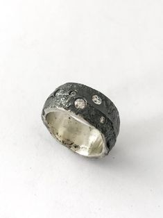 R63   BARBARA BEAMISS jewellery Sand Casting, Delft, It Cast, Silver Rings, Clay, Jewellery, Sterling Silver, Jewelery, Jewlery