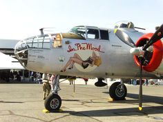 B25 Mitchell  In the Mood nose art