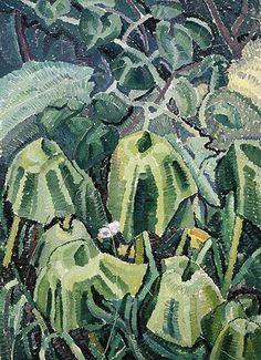 Pumpkin leaves drooping, 1926 by Grace Cossington Smith. still life Australian Painting, Australian Artists, Pumpkin Leaves, Black Mountain, Post Impressionism, Art Database, Cubism, Texture Art, Art Forms