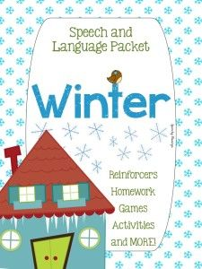 Speechy Musings: A 74-page wonderful winter packet containing activities, reinforcers, and games! Check out the preview images to see some of the awesome pages included!