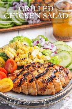 Grilled Chicken Salad, Chicken Salad Recipes, Healthy Salad Recipes, Beef Recipes, Ranch Chicken Casserole, Recipe Using Chicken, Best Side Dishes, Dinner Recipes, Dinner Ideas