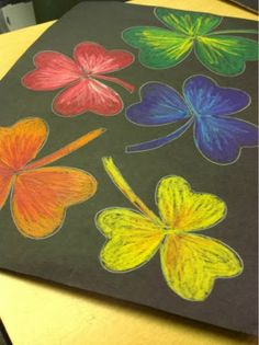 Color It Like you MEAN it!: 3rd grade colored with colored pencil stix...using heart for template
