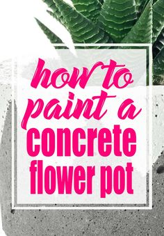 Concrete planters are beautiful and ugly all at the same time.  The good news is that you can paint them!  In this post, I