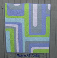 Groovy Watercolor quilt - Material Girl Quilts {Groove quilt pattern}