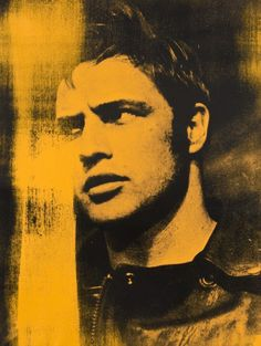 Russell Young - Brando Portrait (Yellow)