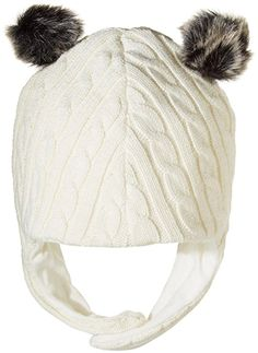 Magnificent Baby Unisex Baby Magnetic Cream Cable Knit Aviator Cap, White, 18-24 Months