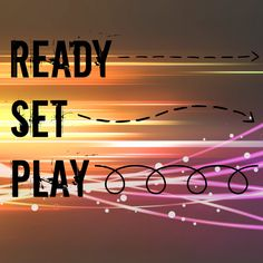 Can rules be FUN? Here's October's rule... READY, SET, PLAY!!!
