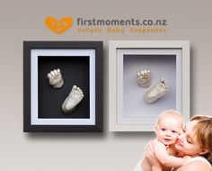 Capture that special moment. Grab a 3D baby hand and foot casting kit for $29 or a casting kit with wooden shadow box frame in black or whit...
