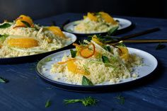 Orange and Fennel Couscous with Orange Blossom Water and Mint ° eat in my kitchen