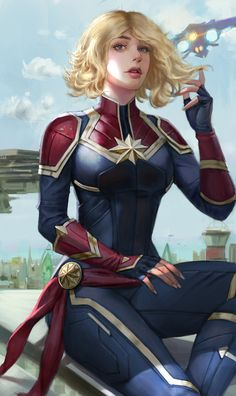 Captain Marvel by ㅇㅇ Joo Drawing for Fun Somewhere in, Korea (South) kveldulv.artstation.comㅇㅇ Joo