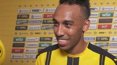 Pierre-Emerick Aubameyang im Interview   BVB - Mainz 05