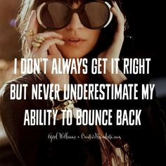 Its not about always getting it right, its about always bouncing back xo inspirational quotes for life and success for women in business and mompreneurs