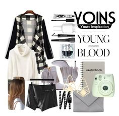 """""""Yoins - Waterfall Checked Cardigan"""" by crystal-imz ❤ liked on Polyvore featuring Eyeko, Essie, MAKE UP FOR EVER, Obsessive Compulsive Cosmetics, Ann Demeulemeester and Chanel"""