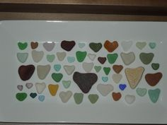 My sea glass heart collection...so far!