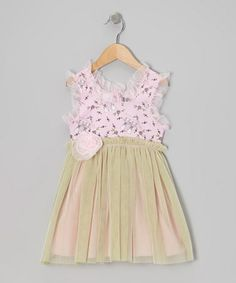 Take a look at this Pink & Lime Rainy Day Cats Tulle Dress - Infant & Toddler by Bye Bye Birdie on #zulily today!