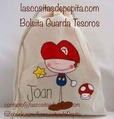 Las cositas de Pepita: Bolsitas para Guardar los Tesoros de tus peques T Shirt Painting, Painted Bags, Fabric Gift Bags, Purse Tutorial, String Bag, Sewing Art, Knitting For Kids, Cotton Bag, Baby Design