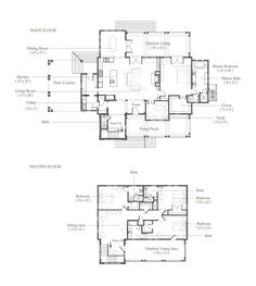 Palmetto Bluff Low Country, Country Living, Palmetto Bluff, Porte Cochere, Beach Bungalows, Outdoor Living Areas, House Floor Plans, Second Floor, Architects