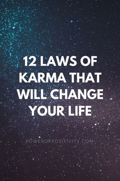 Karma is the law of cause and effect – an unbreakable law of the cosmos. Your actions create your future. The reason your fate is never sealed is because you have free will. Therefore your future cannot already be written. That would not be fair. Spiritual Enlightenment, Spiritual Awakening, Spiritual Growth, Ayurveda, 12 Laws Of Karma, Positive Stories, Spirit Science, Power Of Positivity, Higher Consciousness