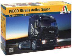 ITALERI Iveco Stralis active space 3869 1:24 Model Kit Truck , NEW