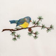 Bluebird<br>Hand Towel - Ivory Cotton