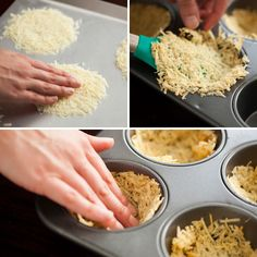 Make these Parmesan cups with a muffin pan and use for serving salads or appetizers.