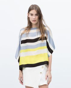 ZARA - WOMAN - STRIPED TOP