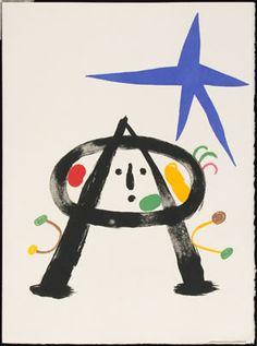 Joan Mirò - serie Parler seul Joan Miro, Ecole Art, Snowman, Disney Characters, Fictional Characters, Christmas Ornaments, Holiday Decor, Illustration, Art