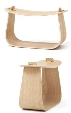 Low oak #stool HARRY by Massproductions | #design  #wood